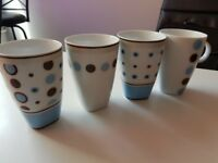 Blue and Brown Cups - Used