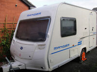 2009 Bailey Ranger 380/2 Caravan with awning and accessories