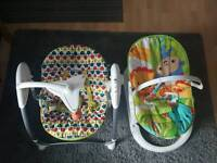 Mamas and Papas swing & Fisher-Price Rainforest Friends Fun Fold Bouncer, Bundle