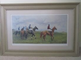 Getting in line - framed limited edition print