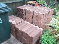 222 x Reclaimed Russell Double Roman roof tiles