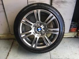 Alloys x 4 of 17 inch genuine BMW 3 series staggered fully powdercoated in shadow chrome