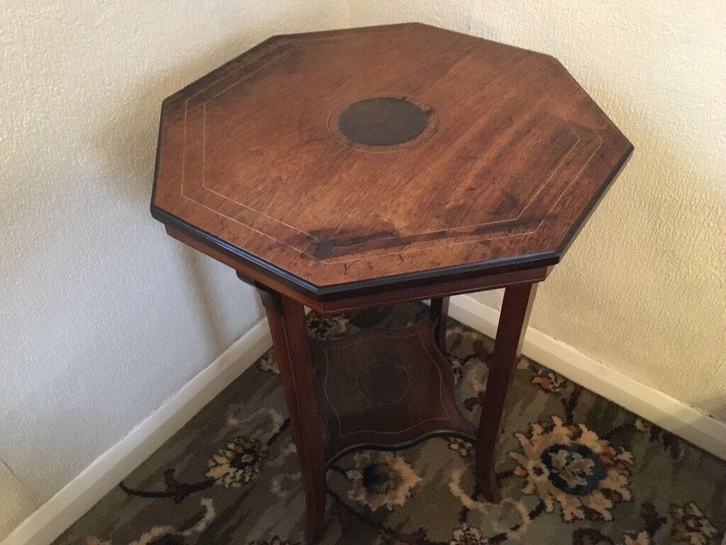 Vintage Octagonal Wood Table