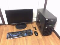 Gaming Computer PC, Complete Setup & Monitor (Intel Quad Core, 4GB RAM, GT 740 Nvidia, 250GB HD)