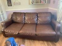 Good used 3seater 2seater and storage pouffe