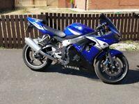 Yamaha R6 Blue, 2004, 13710miles. MOT 10.2018