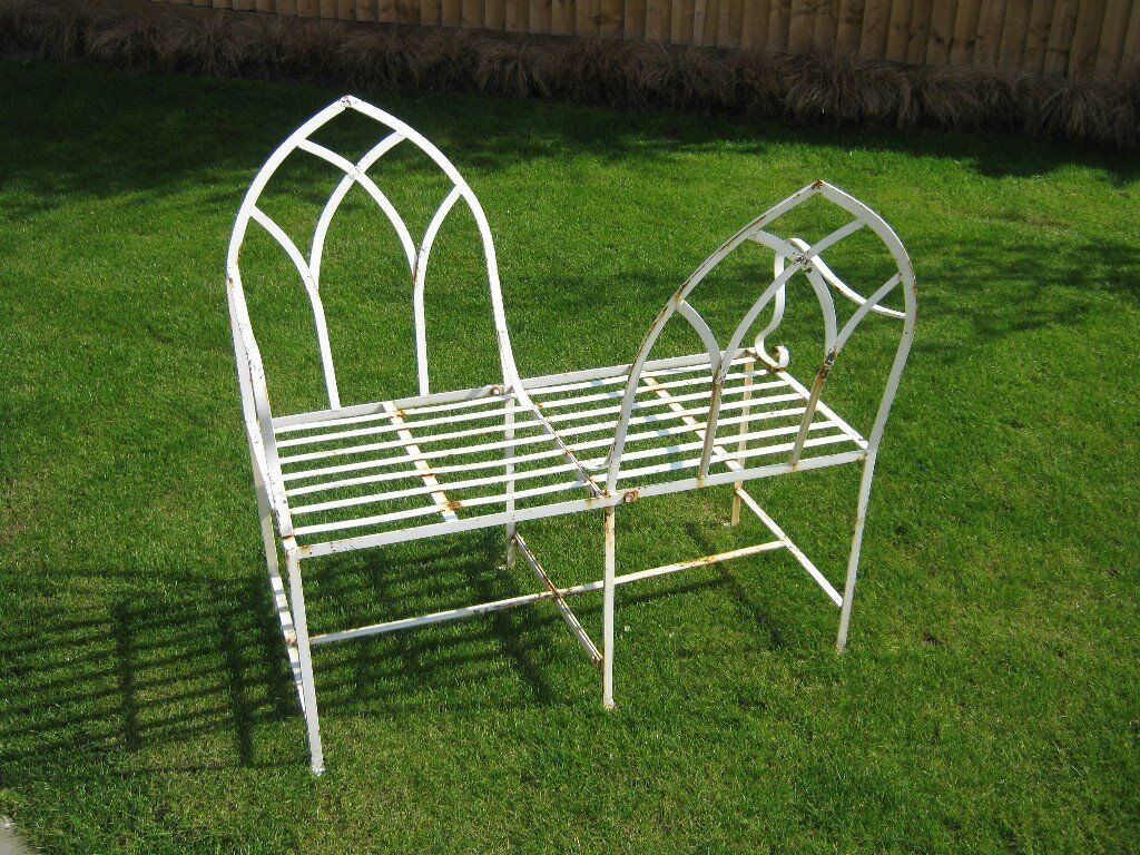 Shabby chic metal garden furniture love seat collect cf64 in dinas powys vale of glamorgan - Garden furniture shabby chic ...