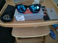 Unwanted gift Ray ban 2140 wayfarer black frame ice blue lens 52mm