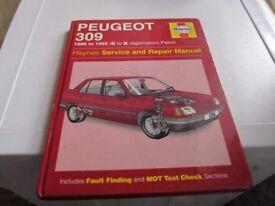 PEUGEOT 309 HAYNES MANUAL