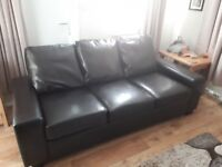 Sofa bed in faux leather mechanical