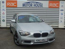 BMW 118d SE SAT NAV (£20.00 ROAD TAX) FREE MOT'S AS LONG AS YOU OWN THE CAR!!! (silver) 2013
