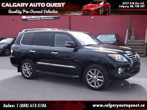 2013 Lexus LX 570 4WD/NAVI/CAM/DVD/3RD ROW/LEATHER