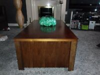coffee table solid wood large brown modern bargain only £49