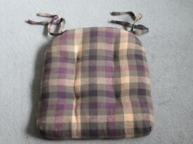 Four Chair Seat Cushions with ties