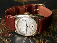 Vintage mens solid 9ct 9k 375 gold Swiss watch (CHEAP Christmas)