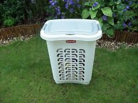 CURVER Cream & Silver Laundry Basket