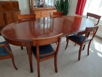Grange dining table & 6 chairs, cherrywood