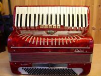 Calvi Parma, 4 Voice, Musette Tuned, 120 Bass, Piano Accordion.
