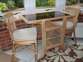 harmony cane table and chairs