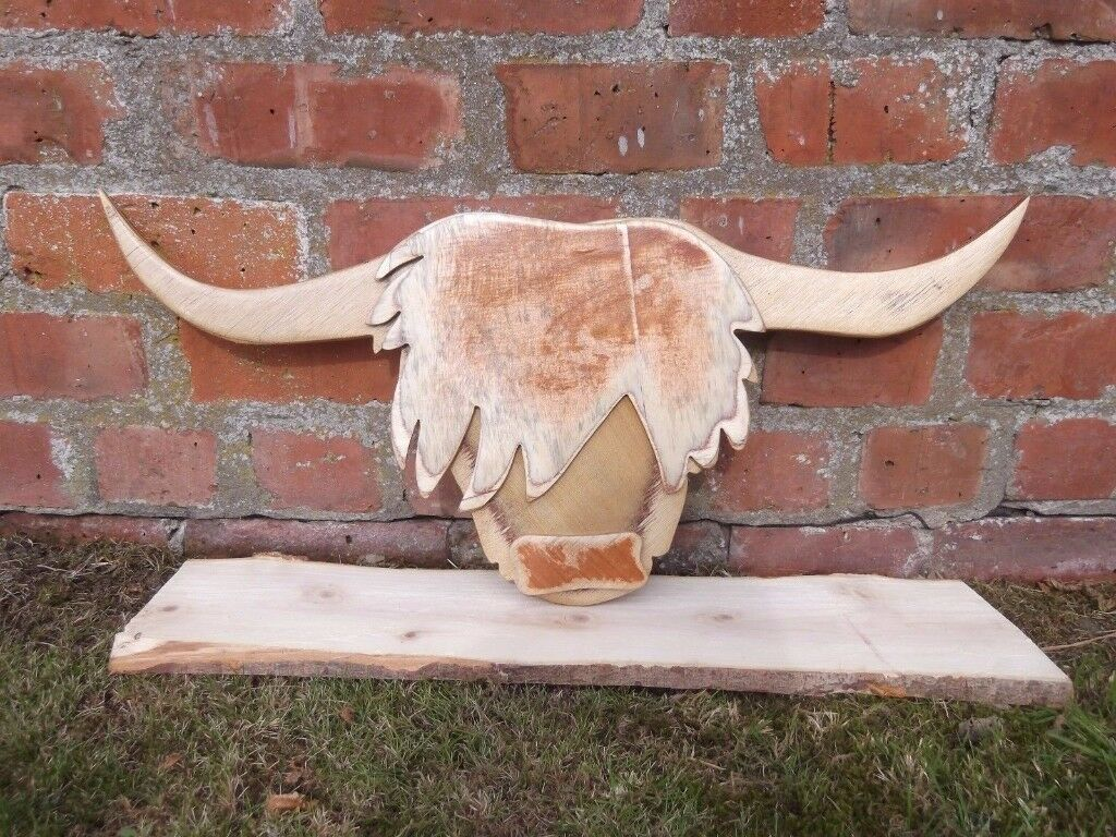Highland Coo head wall hanging