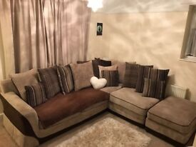 Corner Sofa with footstoll