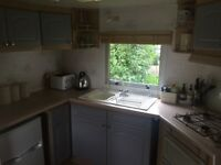 Lovely static caravan for sale on a rural setting