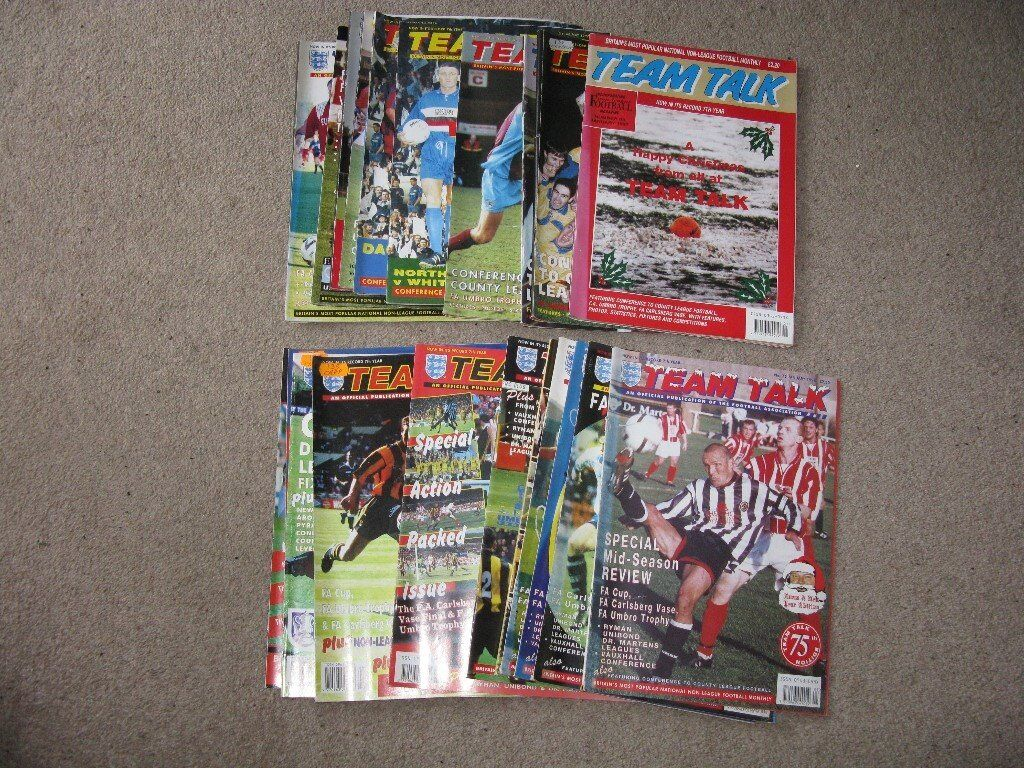 Team Talk (Non League Football) Magazines x 21