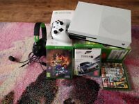2017 Xbox One S 1TB with 3 games and headset - like new