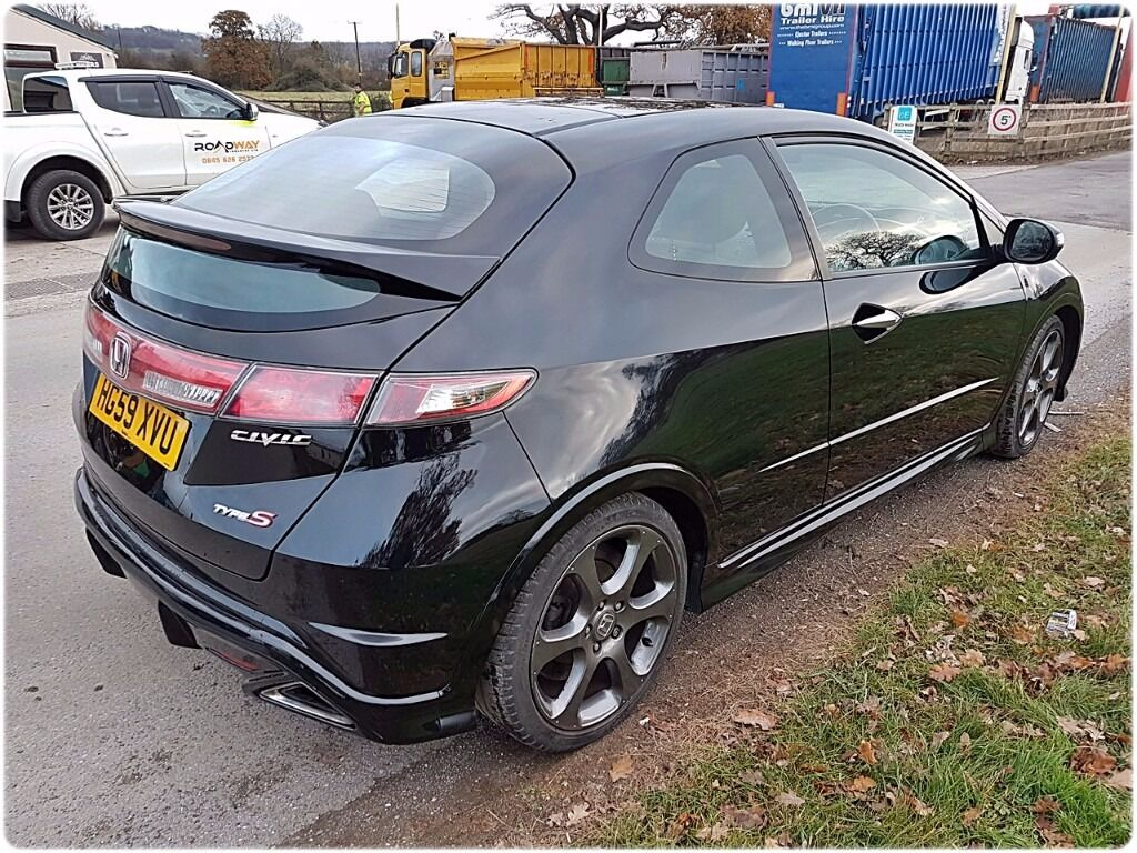 Honda civic type s gt i vtec 2010 1 8 11 months mot black for All black honda civic