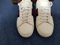 """Gucci """"Ace"""" trainers man size 10uk white leather"""