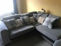 L shape couch with swivel chair