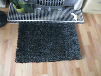 Rug, Chez Toi black and grey rug, 100% Polyester rug, NEW