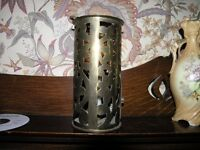 Copper Cylindrical candle Light Holder 110mm Diameter