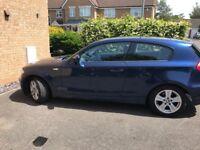 BMW 1 Series 3 door car. Good condition. MOT - service history.. £3,500