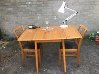 VINTAGE TABLE AND CHAIRS FREE DELIVERY RETRO MIDCENTURY DANISH 🇬🇧