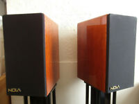 NOLA BOXER SPEAKERS + stands & gold-plated cables