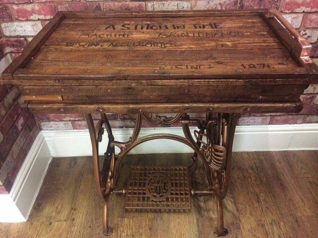 Tabledesk Made From Antique Victoria Cast Iron Sewing Machine Base In Derby Derbyshire Gumtree