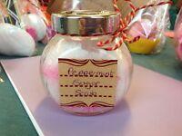Handmade peppermint sugar scrub