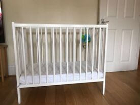 White Space Saver Baby Cot