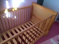 Cot bed to toddler bed Standard size.