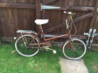 CLASSIC RETRO SHOPPER GENUINE RALEIGH TWENTY 20 BARN FIND BICYCLE BIKE £50