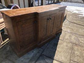 Mahogany sideboard, collection £150