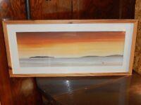 Framed Landscape Print Beach Sunset