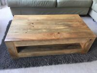 3 piece chunky oak furniture for sale. Worth £500 brought 1 year ago.