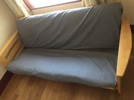 Solid Wood Double Sofa Bed Excellent Condition