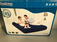 Double Flocked Airbed With Pump - Bestway