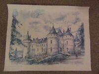 Unframed Print / Picture of 'Chateau de Chaumont' by Tegai