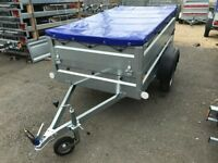 FARO PONDUS BREND NEW CAR BOX TRAILER WITH DOUBLE SIDE AND FLAT COVER