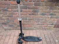 Maxi Micro Scooter Black with Joystick