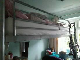 High bed frame